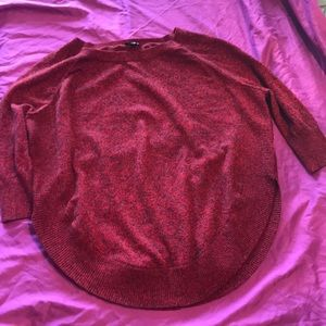 Red marble express sweater